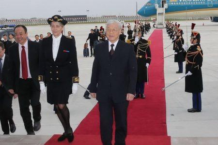 Tổng Bí thư Nguyễn Phú Trọng được tiếp đón một cách lạnh nhạt tại Pháp