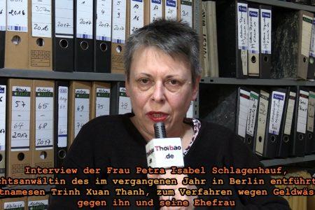 Phỏng vấn Luật sư Petra Isabel Schlagenhauf về cuộc điều tra vì tình nghi rửa tiền, ông Trịnh Xuân Thanh và vợ.