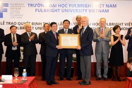Trao quyết định thành lập ĐH Fulbright Việt Nam