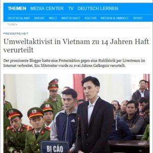 Immer mehr junge Aktivisten werden in Vietnam verurteilt