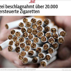 Đức thu giữ trên 20.000 điếu thuốc lá lậu của người Việt ở Berlin