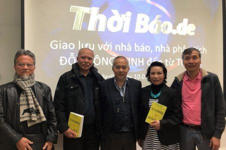 Giao lưu với nhà báo, nhà phân tích Đỗ Thông Minh đến từ Tokyo tại Thoibao.de (Berlin 10.03.2018)