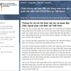Thông tin về xin thị thực tại các cơ quan đại diện ngoại giao của Đức tại Việt Nam