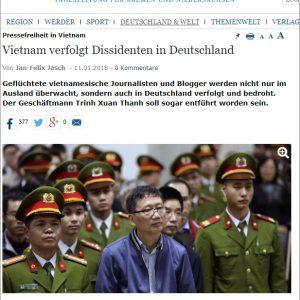 """Vietnamesische Extremisten drohten mit einem Angriff mit """"Stinkbombe"""" auf eine Podiumsdiskussion in Berlin"""