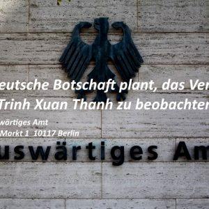 Wird die Bundesregierung einen Beobachter zur Gerichtsverhandlung von Trinh Xuan Thanh am 08.01.2018 in Hanoi schicken?