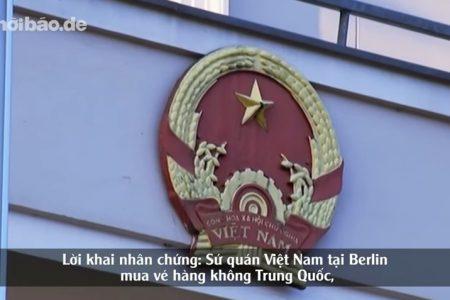 Đại sứ quan Việt Nam tại Berlin đã mua vé máy bay Trung Quốc, áp tải Đỗ Thị Minh Phương về Hà Nội