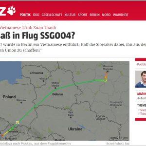 Chuyến bay mang số SSG004 của chính phủ Slovakia đã đưa chui Trịnh Xuân Thanh ra khỏi EU?