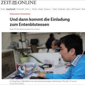 Người Việt ở Đức: Và rồi có thư mời ăn tiết canh ngan