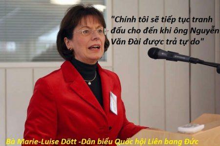 Nữ Dân biểu Quốc hội CHLB Đức tuyên bố, chính tôi sẽ tiếp tục tranh đấu cho đến khi ông Nguyễn Văn Đài được tự do