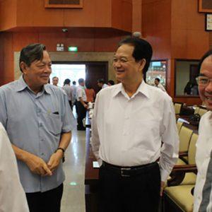 Nguyên Thủ tướng Nguyễn Tấn Dũng dự hội nghị cán bộ ở TP HCM
