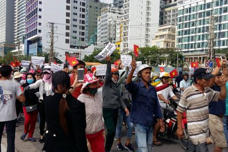 Biểu tình tại Nha Trang 10.6.2018