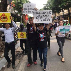 Biểu tình tại Hà Nội 10.6.2018