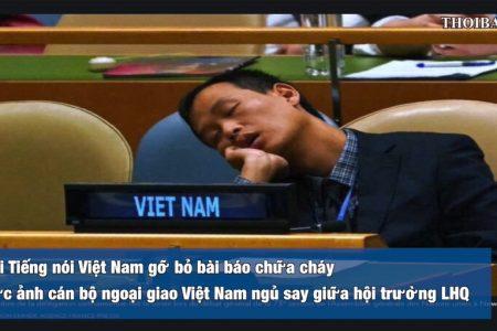 """Vì sao Đài tiếng nói Viêt Nam phải hạ bài chữa cháy cho quan chức """"ngủ"""" trong lúc họp tại LHQ"""