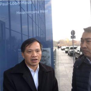 Luật sư Nguyễn Văn Đài điều trần tại Ủy ban Nhân quyền Quốc hội Đức