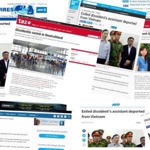 Báo chí quốc tế đưa tin về vụ Lê Thu Hà bị trục xuất khỏi Việt Nam về lại Đức