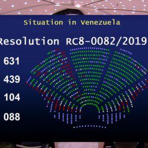 Nghị viện châu Âu bỏ phiếu thông qua nghị quyết công nhận Juan Guaido là Tổng thống lâm thời của Venezuela