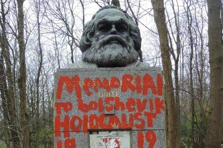 Trong vòng 2 tuần, Bia mộ của Karl Marx đã bị phá hoại 2 lần
