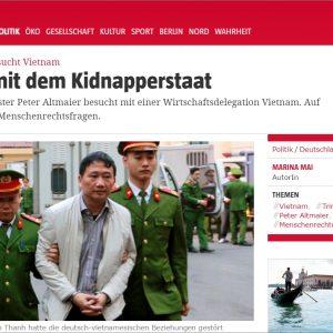 Chuyến công du Việt Nam của Bộ trưởng Kinh tế Đức và vấn đề Trịnh Xuân Thanh