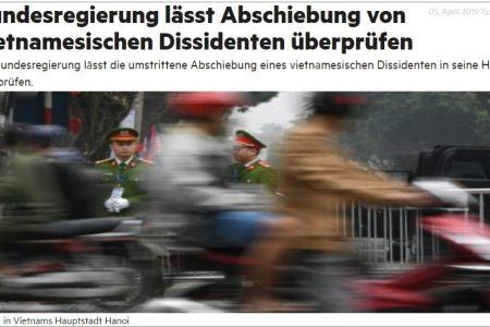 Chính phủ Liên bang Đức cho cứu xét lại trường hợp nhà bất đồng chính kiến Nguyễn Quang Hồng Nhân