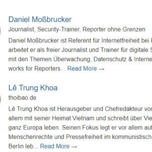 Hội nghị báo chí tại Hamburg, CHLB Đức