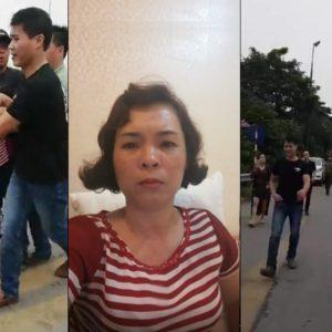 """Công an Việt Nam mặc thường phục đánh người dân phản đối """" BOT bẩn """" Bắc Thăng Long – Nội Bài, HN 20.5.2019"""