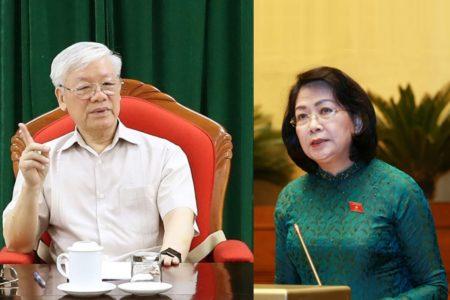 Vì sao Bà Đặng Thị Ngọc Thịnh phải thay mặt Chủ tịch nước Nguyễn Phú Trọng trình Công ước 98?