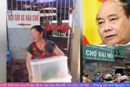 Dân chui qua lỗ để ra vào chợ Đại Mỗ, Từ Liêm, Hà Nội. Chính phủ chưa giải quyết!