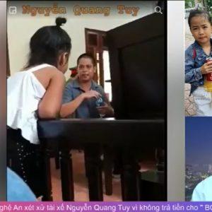 """Tòa án Hưng Nguyên tỉnh Nghệ An xét xử tài xế Nguyễn Quang Tuy vì không trả tiền cho """" BOT bẩn"""""""