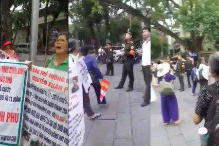 Biểu tình trước nhà Thủ tướng Nguyễn Xuân Phúc tại Hà Nội