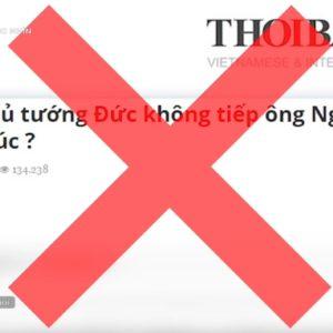 Đài truyền hình nhà nước Việt Nam VTV4 dùng tay chân ở nước ngoài tấn công tờ Thoibao.de
