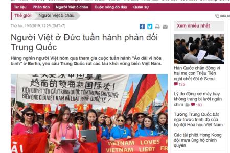 Báo chí truyền thông trong nước bị cấm đưa tin về cuộc biểu tình chống Trung Quốc tại Berlin