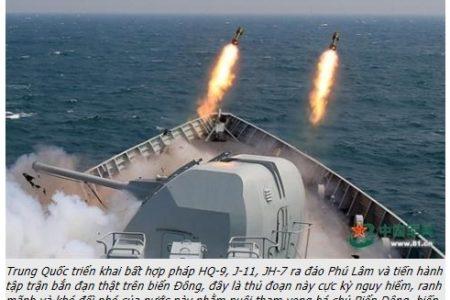 Phạm Bình Minh vừa gặp Ngoại trưởng Mỹ – Tập Cận Bình liền đưa tàu tập trận ngoài Biển Đông!