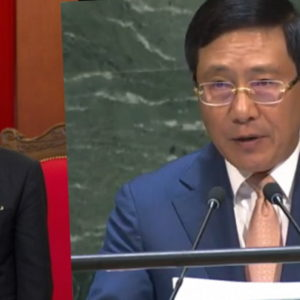 Đảng cấm nói, Phạm Bình Minh cúi mặt – Mừng Trung Quốc, Vương Đình Huệ đem hoa