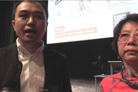Phạm Đoan Trang nhận giải báo chí 2019: Phỏng vấn anh Trịnh Hữu Long và chị Lê Thị Minh Hà