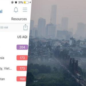 Công bố khí độc, AirVisual bị tấn công – Triệu người mắc bệnh, Hà Nội ỉm tin buồn