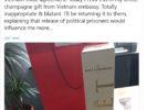 Dân biểu Châu Âu tố cáo Đại sứ VN hối lộ rượu Champagne để bỏ phiếu thông qua EVFTA