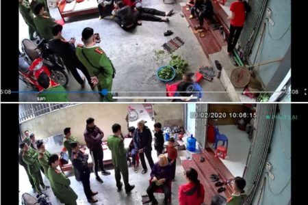 Đồng Tâm: Vợ cụ Lê Đình Kình ngất xỉu khi công an đến khám nhà sáng 20.2.2020