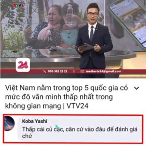 Ranked bottom of online civilized behaviors – what do Vietnamese people say?