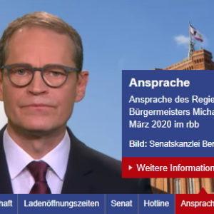 Quy định mới của Chính quyền Berlin về cuộc khủng hoảng Corona có hiệu lực từ 18/3/2020