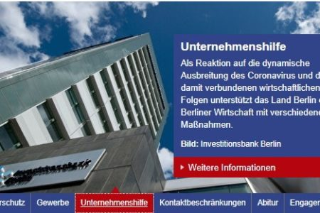 Gói hỗ trợ của Tiểu bang Brandenburg- Soforthilfe Corona Brandenburg