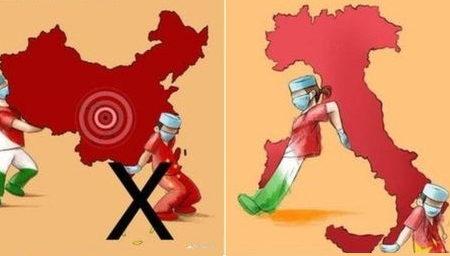 Trung Quốc biến 'tấm chân tình' của người Ý thành cuộc chiến trên mạng vì đường lưỡi bò