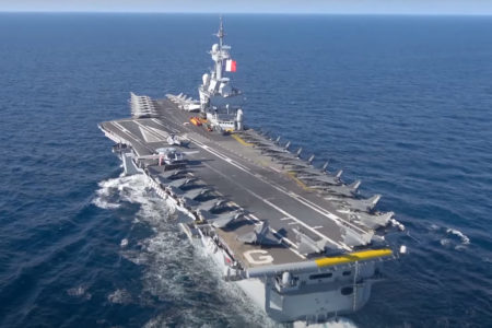 Who release Coronavirus on US and French aircraft carriers?