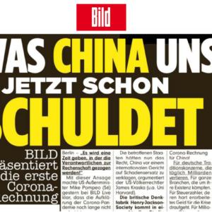 Tờ báo BILD lập hóa đơn đòi Trung Quốc bồi thường cho Đức 149 tỷ Euro vì COVID-19