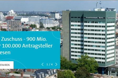 Ngân hàng đầu tư Berlin đã chuyển khoản 900 triệu Euro cho hơn 100.000 doanh nghiệp nhỏ