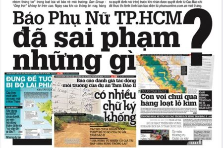 HCM City's Women Newspaper defends themselves after being suspended for one month