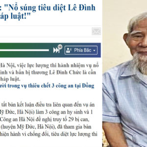 Dong Tam massacre: Vietnam's state-controlled media says killing 84-year-old Kinh is legal