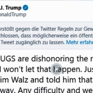 Twitter đe dọa khóa tài khoản của Tổng thống Mỹ Donald Trump