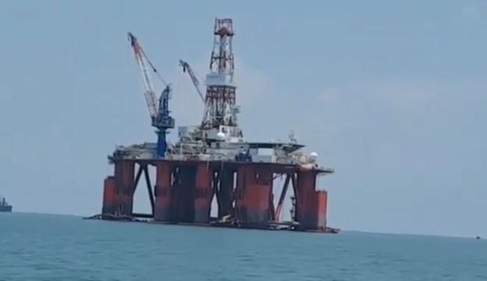 Hình minh hoạ. Giàn khoan Hakuryu-5 ngoài khơi Vũng Tàu hôm 29/4/2018