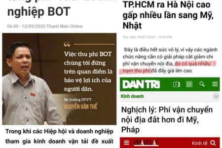 BOT dày đặc và phí mãi lộ khiến phí vận chuyển từ TpHCM ra Hà Nội 'đắt gấp đôi đi Mỹ'