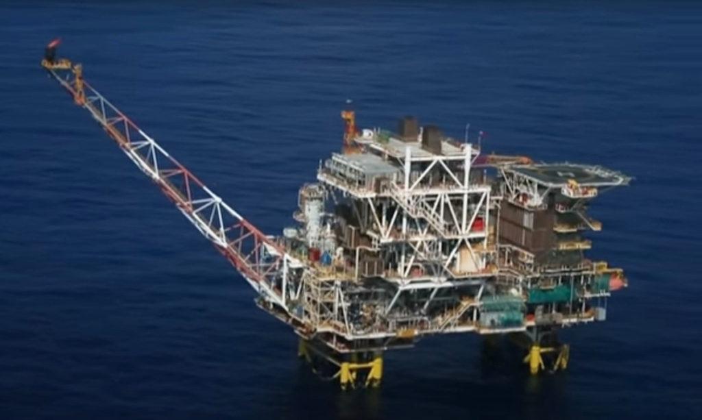 Hình minh hoạ. Toàn cảnh mỏ Lan Tây do Rosneft Vietnam vận hành ở Biển Đông hôm 29/4/2018